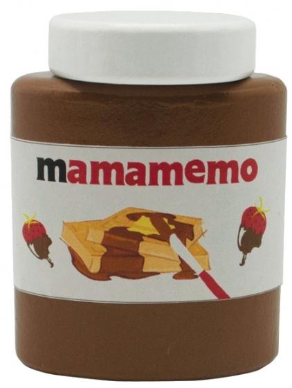 Mamamemo Mama Tella chocoladepasta hout 6 cm bruin