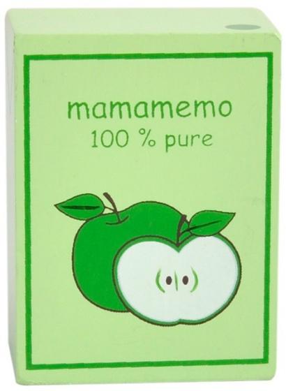 Mamamemo pakje appelsap hout 6 cm groen
