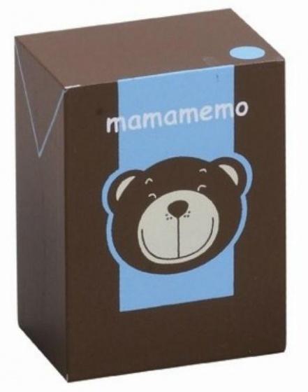 Mamamemo Pakje Chocolademelk hout 4 x 6 x 3 cm bruin