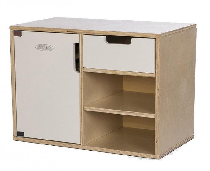 Mamamemo houten keukenkastje met koelkast 36 cm