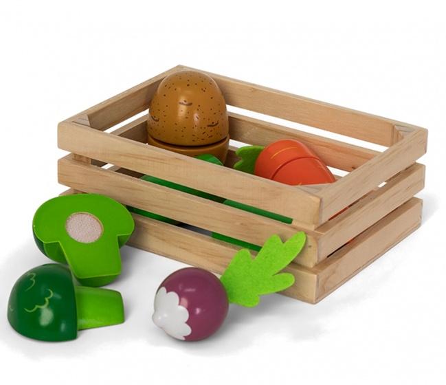 Mamamemo houten krat met groenten 16 cm