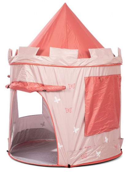 Mamamemo pop up speeltent Peach 140 cm polyester roze 2 delig