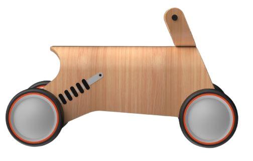 Mamatoyz loopwagen Bold junior 60 x 34 cm hout naturel S