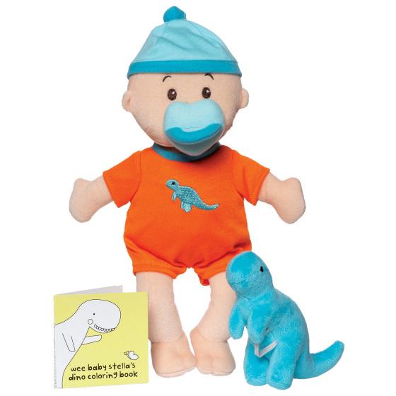 Manhattan Toy babypop Stella Tiny Dino Set 30,5 cm textiel