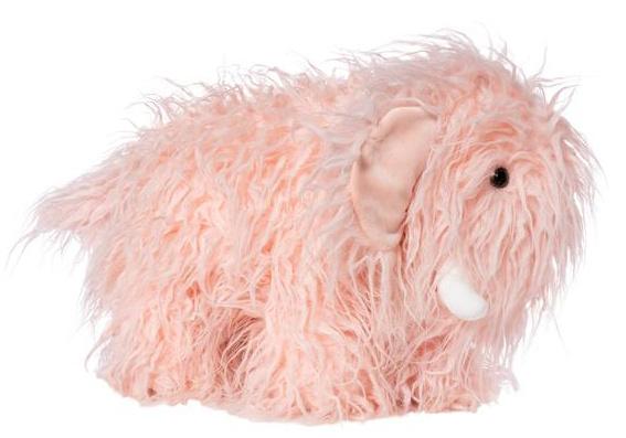 Manhattan Toy knuffel Mammoet meisjes 18 cm pluche/suède roze