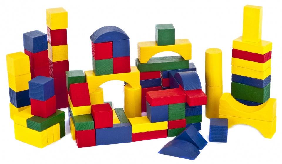 Marionette blokken in ton hout 100 stuks