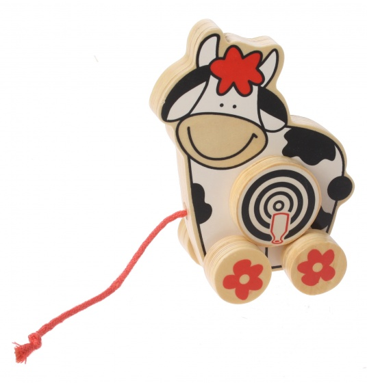 Marionette Houten Trekdier Koe