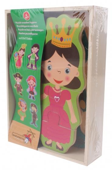 Marionette houten vormenpuzzel 6 stuks