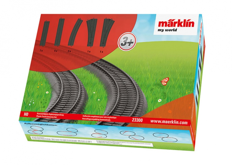 Marklin uitbreidingsset kunststof rails 15 delig