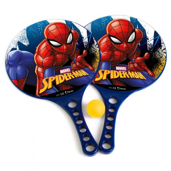 Marvel beachbalset Spiderman jongens 36,5 cm blauw 3 delig