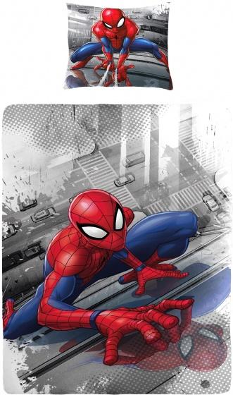 Marvel dekbedovertrek Spiderman grijs 140 x 200 cm
