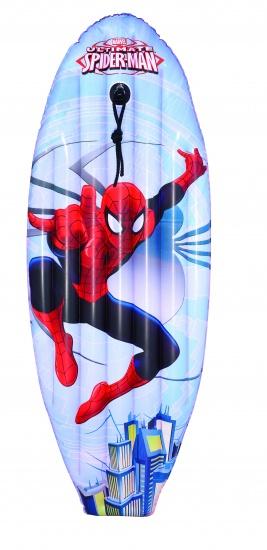 Marvel Luchtbed Spiderman Surf Blauw 114 x 46 cm
