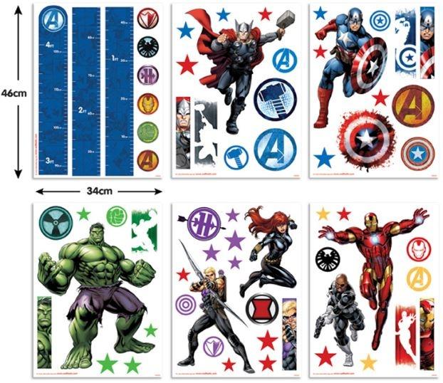 Marvel Muursticker Avengers 66 stickers