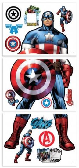 Marvel Muursticker Captain America 122 cm