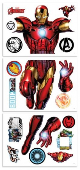 Muursticker Iron Man Walltastic: 122 Cm