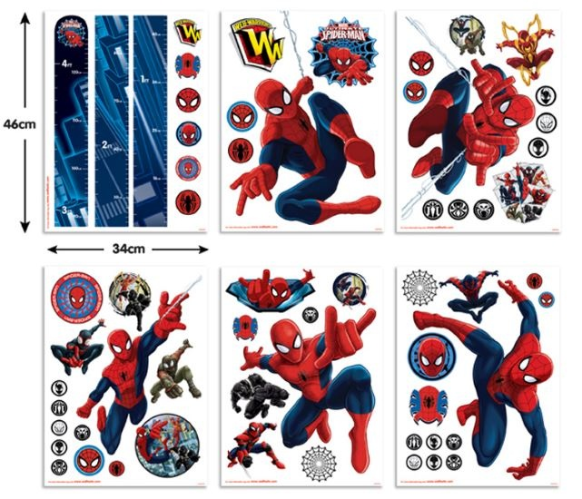 Marvel Muurstickers Spiderman 61 stickers
