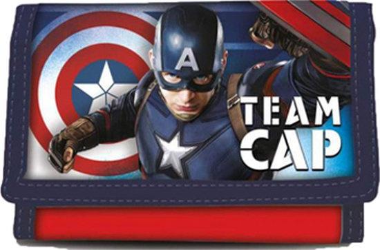 Marvel Portemonnee Captain America 25 x 13 cm blauw/rood