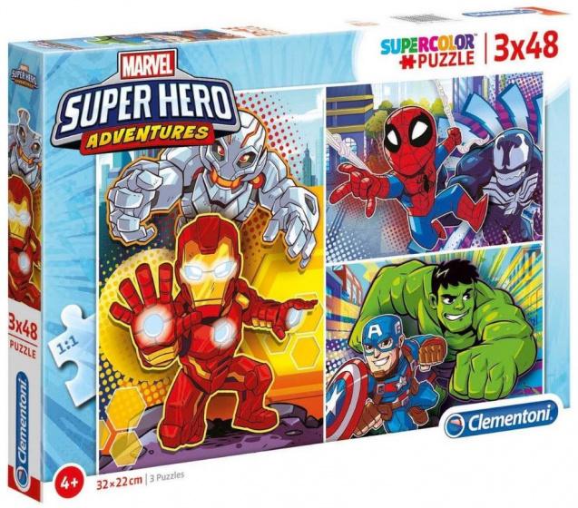 Marvel puzzel Super Hero Adventures 32 x 22 cm karton 144 delig