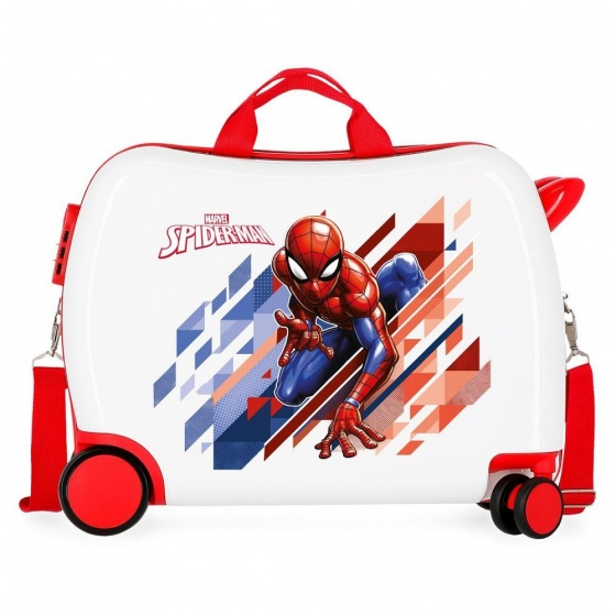 Marvel ride on koffer Spider Man 34 liter junior wit
