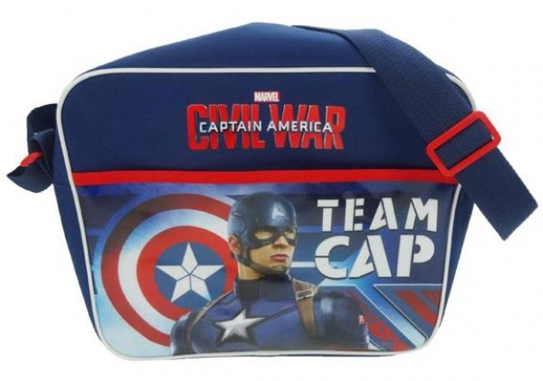 Marvel Schoudertas Captain America Blauw 34 x 9 x 28 cm