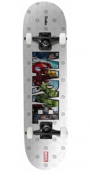 Marvel skateboard BigLogo 81 x 20 cm zilver