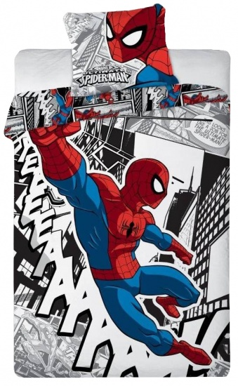Marvel Spider Man dekbedovertrek cartoon 140 x 200 cm