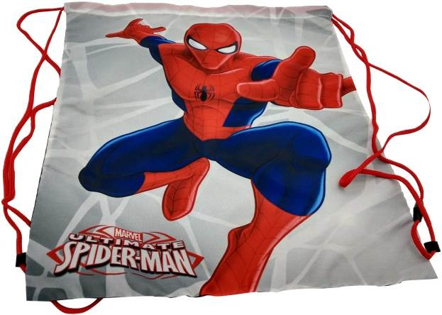 Marvel Spider Man gymtas grijs/rood 37 x 43 cm