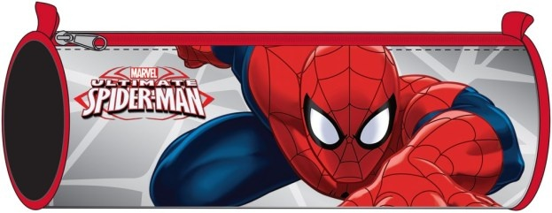 Marvel Spider Man pennenetui 22 cm grijs/rood