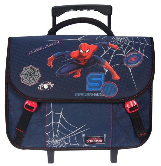 Marvel Trolley Schooltas Spider Man Web Warrior 32 x 42 x 13 cm