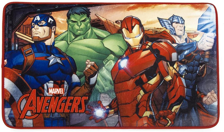 Arditex vloerkleed Avengers 45 x 75 cm polyester rood