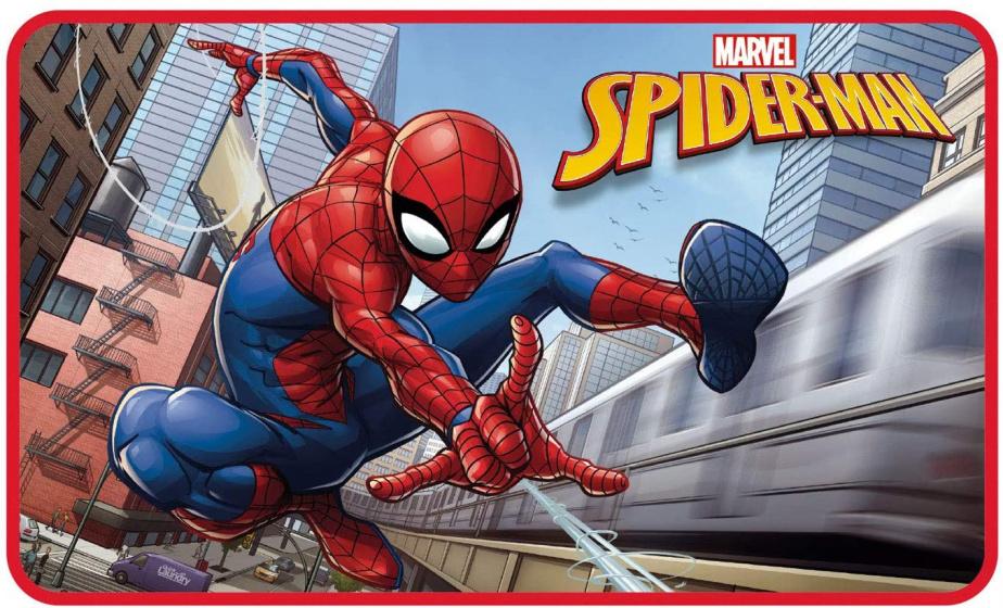 Arditex vloerkleed Marvel Spider Man 45 x 75 cm polyester rood