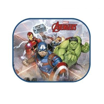 Marvel zonnescherm The Avengers 2 stuks 45 x 36 cm + kleurplaat kopen