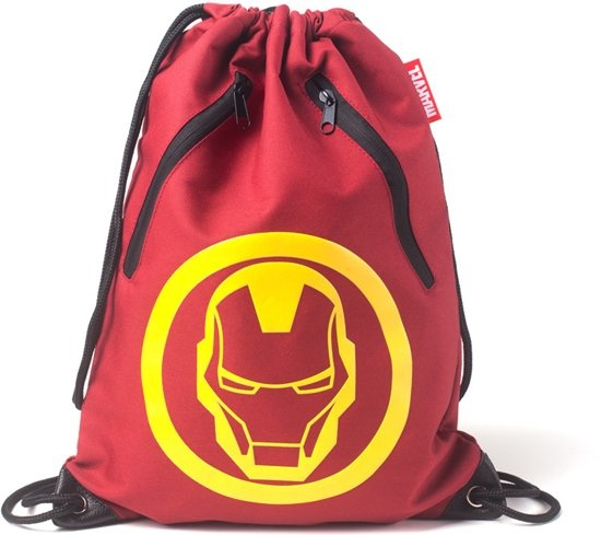 Marvel Iron Man Men's Rubber Print Gym Bag Red