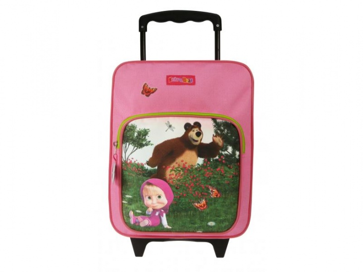 Masha en de beer Play Together Trolley rugzak roze 28 x 35 cm