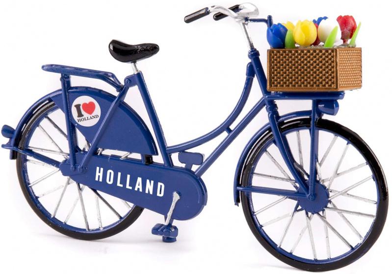 Matix miniatuurfiets I love Holland 15 x 9 cm metaal blauw