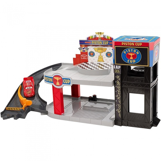 Mattel Cars Piston Cup racegarage 10 x 31 x 33 cm
