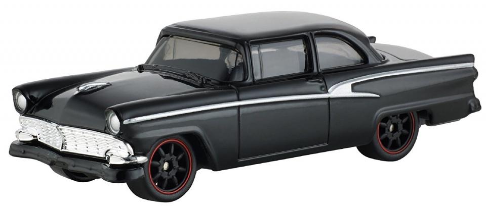 Mattel Fast & Furious Ford Victoria 1956 auto zwart 8 cm
