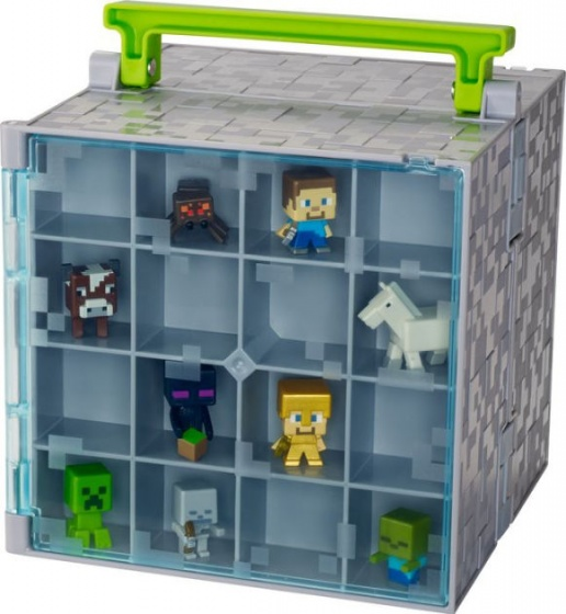 Mattel Minecraft figuren verzamelkoffer 34 x 8 x 16 cm
