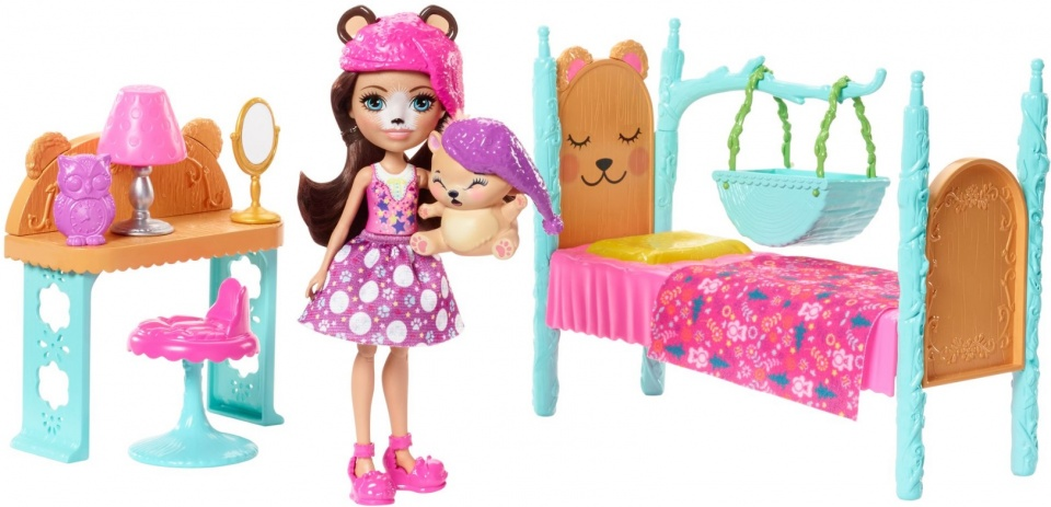Mattel Speelset slaapkamer roze