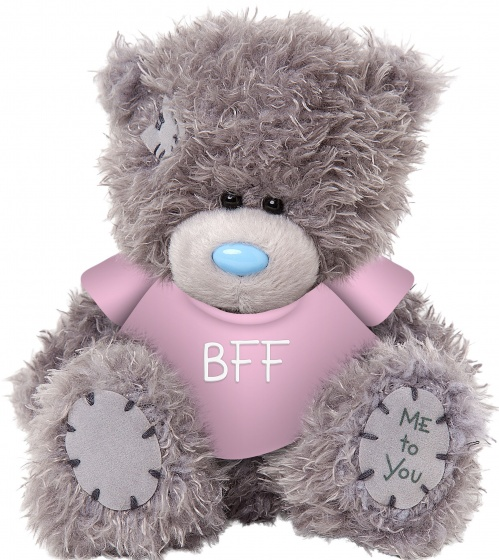 Me to you knuffelbeer bff 13 cm grijs 205753