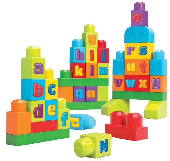 Mega Bloks ABC blokkenspel First Builders junior 40 delig