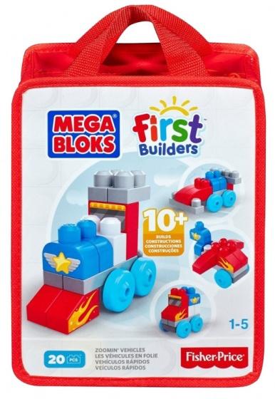 Mega Bloks blokkenspel Build and Learn bag voertuigen 20 delig