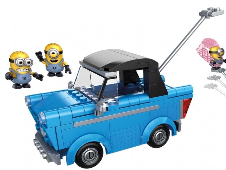 Mega Bloks Minions cabrio kattenkwaad junior blauw 176 delig