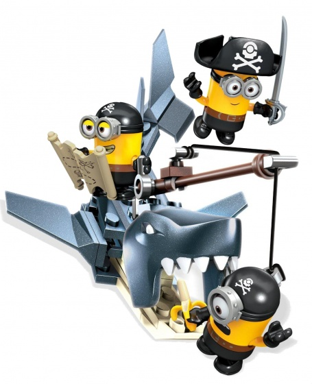 Mega Bloks Minions Shark Bait bouwpakket 72 delig