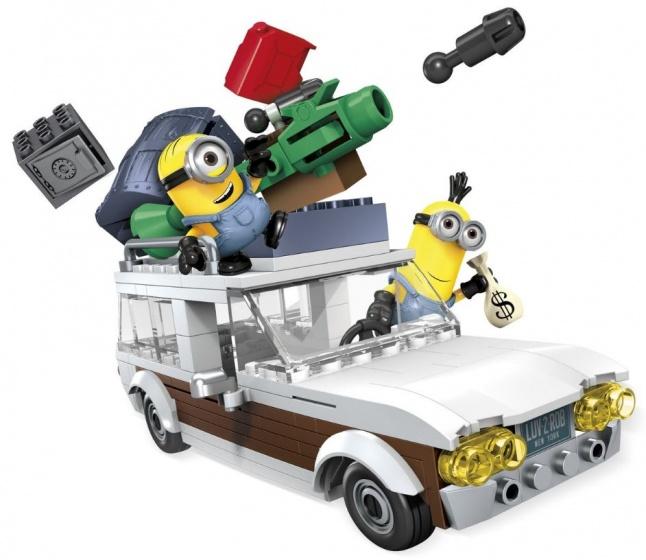 Mega Bloks Minions stationcar ontsnapping bouwpakket 188 delig