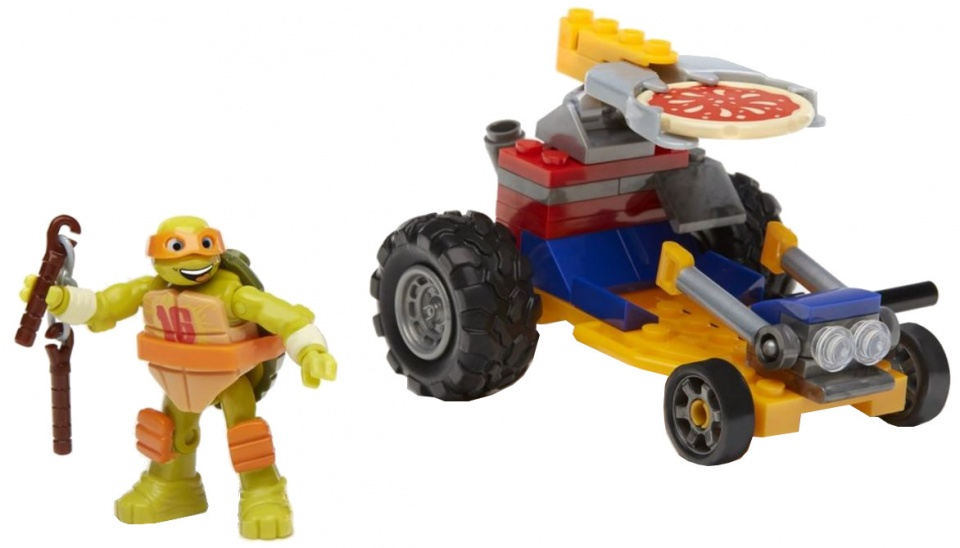 Mega Bloks Turtles Pizza Racer Mikey jongens 59 delig