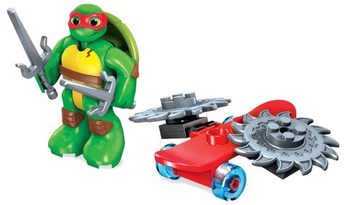 Mega Bloks Turtles skateboard junior rood