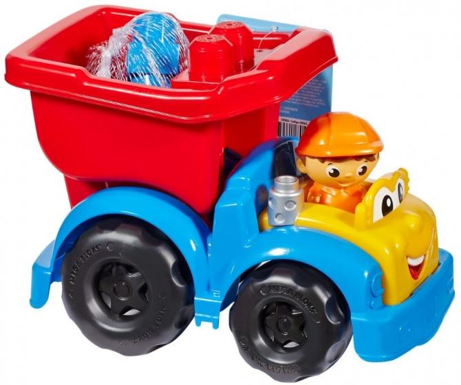 Mega Bloks vrachtwagen Dump junior rood/blauw 24 x 17 cm