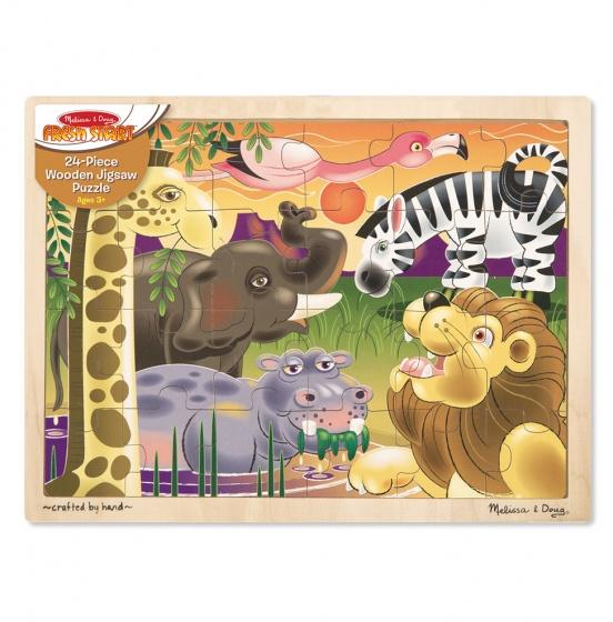Melissa & Doug Afrikaanse savanne puzzel 24 delig
