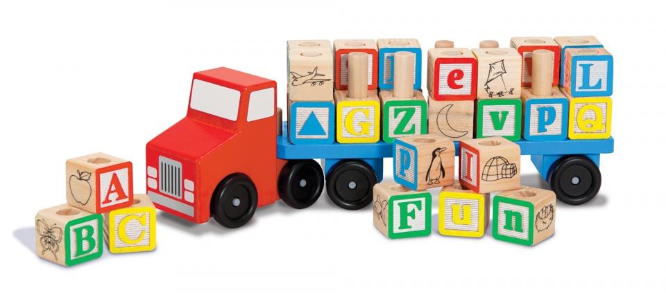 Melissa & Doug alfabet truck 30 delig